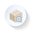 Box z bezpiecznego płaskiego ikony | Stock Vector Graphics
