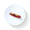 Frachtschiff Flach Symbol