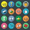 Sport Flach Symbole Set