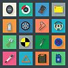Serwis auto płaskie zestaw ikon | Stock Vector Graphics