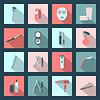 Salon piękności płaskie zestaw ikon | Stock Vector Graphics