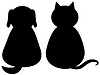 Psów i kotów | Stock Vector Graphics