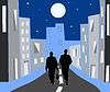 W nocy miasto | Stock Vector Graphics