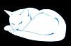Weiße und und orangfarbige Katze | Stock Vektrografik