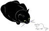 Kot i mysz | Stock Vector Graphics