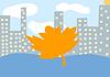 Jesienią miasto | Stock Illustration
