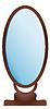 Векторный клипарт: большое зеркало