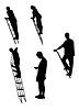 Векторный клипарт: Силуэты мужчин и женщин