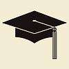 Doktorhut oder Abschluss-Hut