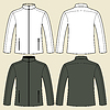 Jacket-Vorlage - Vorder-und Rückseite