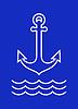Anchor und Meereswellen