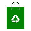 Grüne Einkaufstasche mit Recycling-Symbol