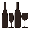 ID 4112899 | Butelki i kieliszki wina i szampana | Klipart wektorowy | KLIPARTO