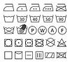 Set von Wasch-Symbole (Icons Wäscherei)