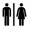 WC, Dusche, Toilette Zeichen