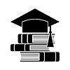 Wir feiern Abschluss-Hut und Bücher, Bildung