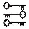 Alte Schlüssel Silhouette Set