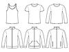 Singulett, T-Shirt, Langarm-T-Shirt,