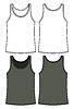 Schwarz und weiß Singulett-Vorlage - Vorder-und Rückseite