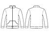 Blank-Sweatshirt-Vorlage - Vorder-und Rückseite