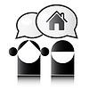 Zwei Leute reden über das Haus