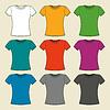Bunte leere T-Shirt-Vorlage