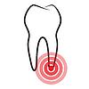 Krankes Zahn