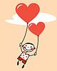 Der Junge mit Luftballons