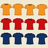 Blank T-Shirt-Vorlage. Vorder-und Rückseite