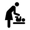 Babypflege Raum Symbol, Mutter Zimmer Symbol