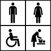 Toilette anmelden - Restroom, Mutter Raum und Behinderten