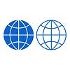 Globe znak | Stock Vector Graphics