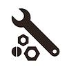 Schraubenschlüssel, Muttern und Bolzen Symbol