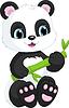 ID 4120237 | Netter Panda | Stock Vektorgrafik | CLIPARTO