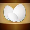 Ostern Eier auf Papier gestreiften Hintergrund
