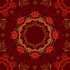abstrakter roten Blumenhintergrund mit runden Muster