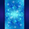 Blue Vintage abstrakte Hintergrund