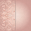 Hintergrund für die Einladung mit rosa Blumenmuster
