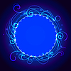 Abstrakte blaue Spitze mystischen Hintergrund mit Drall