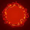 Abstract red mystischen Spitzen Hintergrund mit Drall