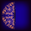 Królewski tło z ornamentem koronki | Stock Vector Graphics