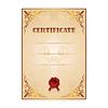 Certyfikat złota z wieńcem laurowym | Stock Vector Graphics