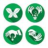 Zestaw ikon, naklejki eco | Stock Vector Graphics