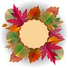 Spitzen-Rahmen mit Herbstlaub