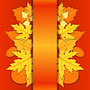 Spitzen-Papier Hintergrund mit Herbstlaub