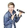 Kobiety z mikrofonem | Stock Foto
