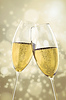 2 kieliszki do szampana | Stock Foto