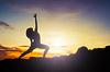 Йога женщина восхода | Фото