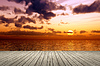Wooden jetty sunset | Stock Foto