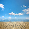 Wooden jetty blue sky | Stock Foto